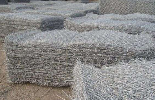 Hot dipped galvanised steel wire mesh basket gabions