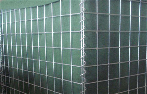 Basket gabions fabricated of electric welded wire mesh panels