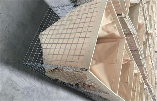 Galvanized square wire mesh gabion boxes 3'x3'x6'
